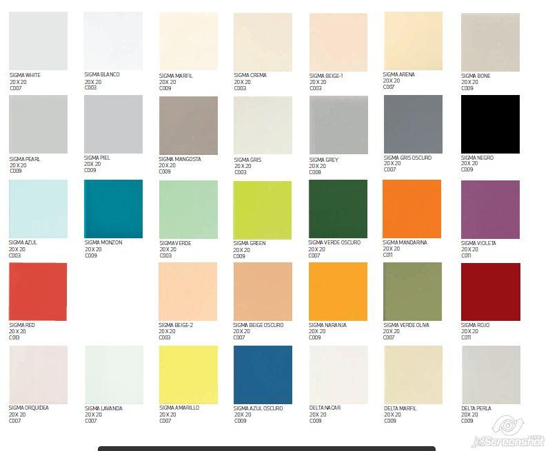 Gres sigma 20x20 cersadecor - Azulejos 20x20 colores ...